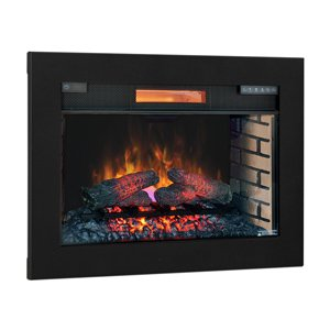ClassicFlame 28-In SpectraFire Plus Infrared Electric Insert & Trim Kit - 28II300GRA & BBKIT-28 picture