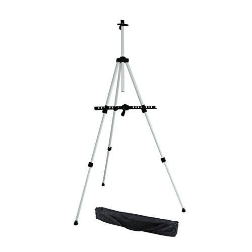 Ohuhu® 66″ Tall Lightweight Aluminum Field Easel – Great for Table-Top or Floor Use – FREE BAG