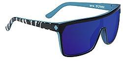 Spy Optic Flynn 180323238363 Shield Sunglasses, Livery Happy Gray,Green & Pink Spectra, 134 mm