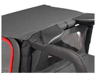Bestop 52528-35 Header-style Bikini Black Diamond Top for 03-06 Wrangler including Unlimited