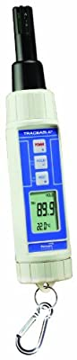 Thomas Traceable Hygrometer/Thermometer/Barometer/Dew Point Pen, 32 to 122 degree F, 0 to 50 degree C, 10 to 95% RH
