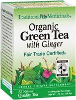 Traditional Medicinals - Organic Green Tea With Ginger - 16 Tea Bags