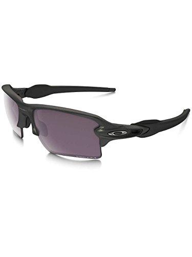Occhiali da sole Oakley Flak 2.0Xl, unisex Uomo, Flak 2.0 XL, black - Steel/Prizm Daily Polarized, Taglia unica