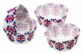 Kitchen Craft - Capsulas Mini Cupcake Bandera (4,5 Cm), 80 Unids