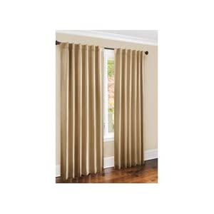 Canopy Faux-Silk Thermal Interlined Curtain Drapery Panel - modern