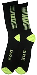 Black & Neon Green OSU Elite Socks