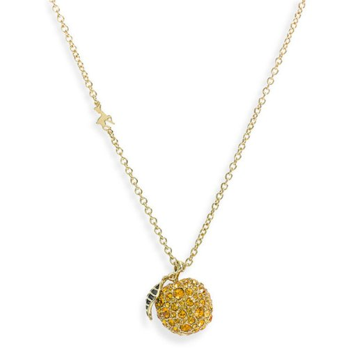 MARC BY MARC JACOBS '10 Year Anniversary' Pave Apple Long Pendant Necklace - ORO