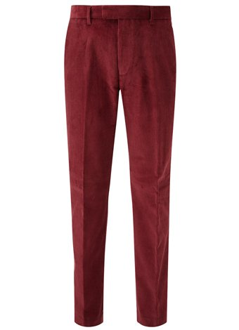Viyella Viyella Burgundy Jumbo Corduroy Trousers LONG MENS 36