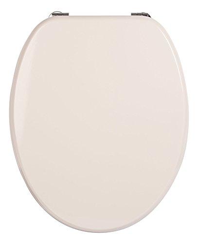 WC-Sitz Venezia pergamon | Toilettendeckel | WC-Brille aus Holz | Mit Active-Clean-Beschichtung | Klobrille mit Metall-Scharnier | Klodeckel