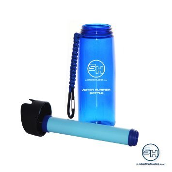 Water-Purifier-Bottle-for-Hiking-Survival-Camping-Backpacking-Paracord-Travel-Strap-Advanced-Filter-Straw-BPA-Free