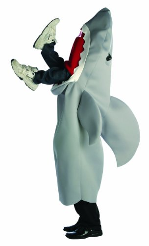 Man-Eating Shark Costume, Gray,