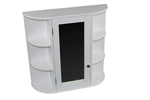1plus landhaus badezimmerschrank h ngend mit spiegel badalona wei. Black Bedroom Furniture Sets. Home Design Ideas