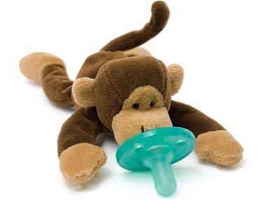 Wubbanub Infant Plush Toy Pacifier - Monkey