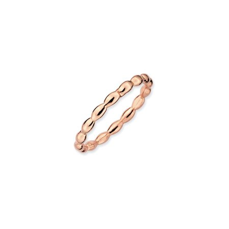 Black Bow Jewellery Company : 2.25mm Stackable Rice Bead 18K Rose Gold Vermeil Band
