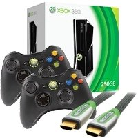 Xbox 360 4 GB Console with 2 Wireless Controllers