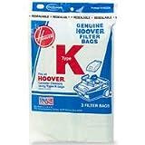 Hoover Type K, Vacuum Cleaner Bags, 3 Pack
