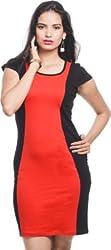Addyvero Women's A-line Red Dress