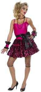 80s Party Girl Adult Halloween Costume Size 4-6 Small