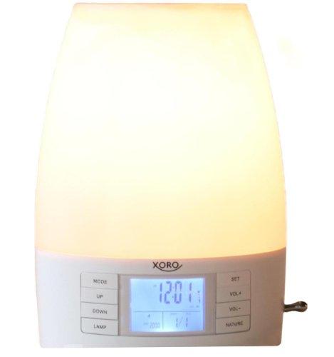 Xoro HMD 100 Wake-up Light (FM Radio, Digital-Uhr, Weckfunktion)