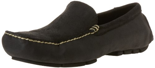Polo Ralph Lauren Men's Terrence Driver Loafer,Black Oil Distressed,10.5 D US