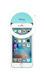 Demetory Ring Fill Light for iPhone 6s Plus/6s, iPad, Samsung Galaxy S6 Edge/S6, Galaxy Note 5, Blackberry, Sony Xperia, Motorola and All the Smart Phones (Sky Blue)