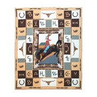 "Brand Quilt Luxury King 120"" x 106"" QLKBRND by Patch Magic"