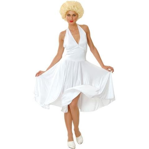 [Marilyn Munro Hollywood Star Fancy Dress Costume 12-14 by Wicked] (Hollywood Film Fancy Dress Costumes)