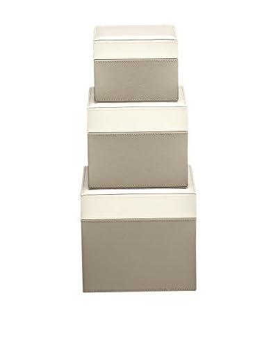 Braid Concept Box Set van 3 IO2202TI taupe / ivoor