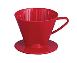 Plastic Coffee Maker Filter Cone Red Made From Recycled Plastic And In USA - BPA Free