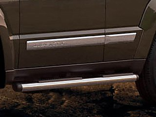 Aries 3in Round Black Nerf Bars Side Steps 2009-2014 Ford F-150 SuperCrew Cab