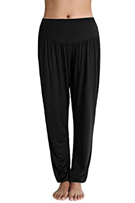 Meaneor Women's Baggy Harem Trousers Stretch Yoga Pilates Pants