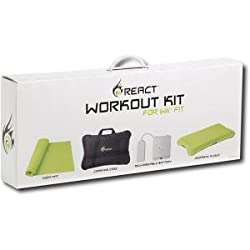Workout Kit for Wii Fit - Yoga Mat/Case/Rechargeable Battery/Sleeve