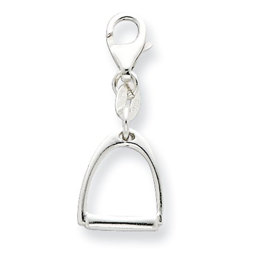 Sterling Silver Small Polished Horse Stirrup Charm