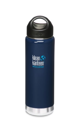 Klean Kanteen Wide Insulated Bottle With Stainless Steel Loop Cap (Night Sky, 20-Ounce) front-1070575