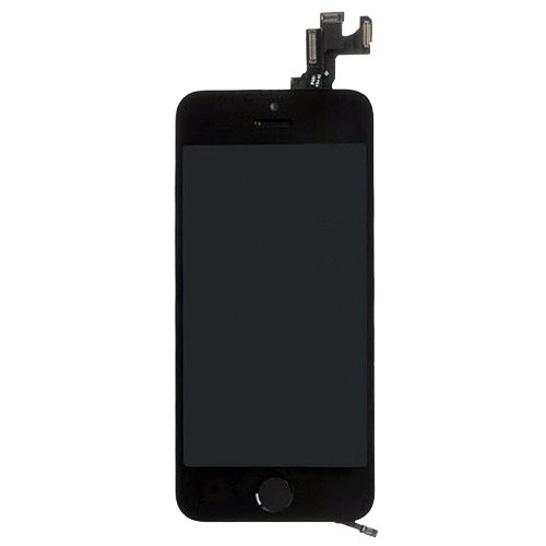 Orangehongkong Replacement Touch Screen Digitizer + Lcd Display & Lcd Shield Plate + Small Parts (Front Camera + Home Button + Earpiece Speaker) For Iphone 5S (Black)
