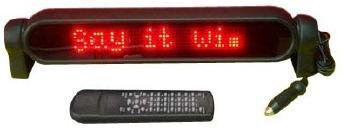 Y0B - Digital Programmable Red Led Moving Message Sign Board