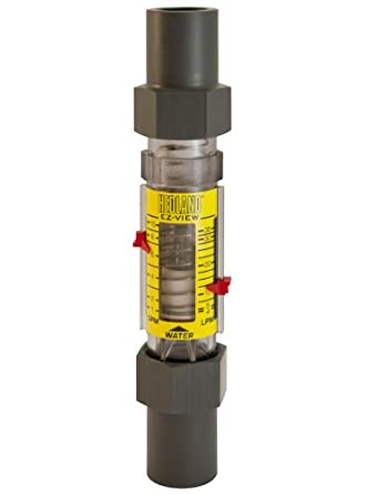 "Hedland H628-010 EZ-View Flowmeter, Polysulfone, For Use With Water, 1.0 - 10 gpm Flow Range, 1"" Socket Weld"