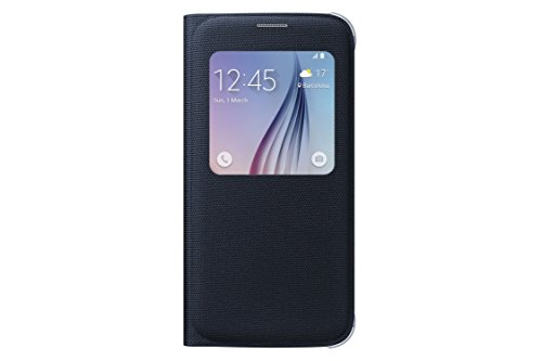 Samsung S-View Flip Cover for Samsung Galaxy S6 - Black Sapphire Fabric