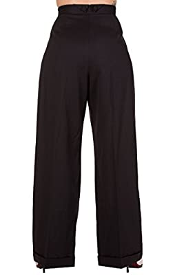 Banned Hidden Away Trousers - Black or Navy / 26-34 Inch Waist