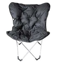 Black Comfort Padded Butterfly Chair