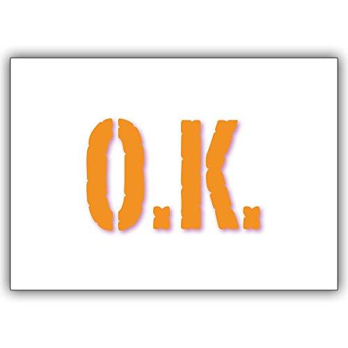 1 Beistands Karte: Wenn es OK ist, dann verschicken Sie doch einfach diese Typografie Klappkarte.