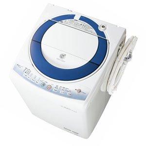 シャープ 7.0kg 全自動洗濯機 ブルー系SHARP 穴なし槽カビぎらい ES-GE70L-A