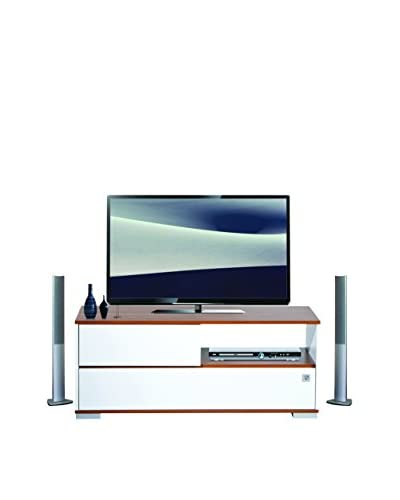 Kenyap Mueble Para TV Mega Blanco / Marrón Medio 130 x 52 x 42