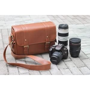 Cosmos PU Leather Camera Shoulder Bag