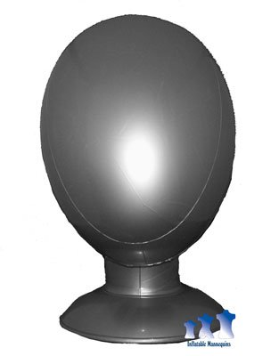 Inflatable Mannequin, Unisex Head, Silver