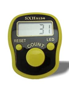 E-6 Electronic Tally Counter with Backlight (yellow)