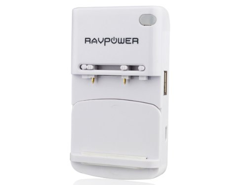 RAVPower® Multi-Purpose Universal USB Travel Wall Charger Cell Phone Battery Charger for iPhones, iPods; Samsung: Galaxy Nexus, Galaxy S2 I9100, S I9000; HTC: Sensation, Sensation XE, EVO 3D, EVO 4G, ThunderBolt; Motorola: Verizon Droid X2; Blackberry Bold 9900, Sony Ericsson Xperia Arc S, and Many More Smart Phones [Can NOT fully charge batteries for the Samsung S3 & S4& Note 3]
