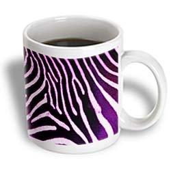 3Drose Purple Zebra Animal Print Ceramic Mug, 15-Ounce