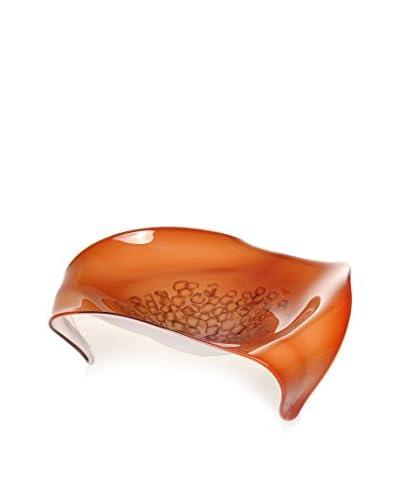 La Meridian Art Glass Platter, Red