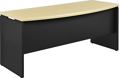 Altra Benjamin Executive Desk, Natural/Gray - Color: Natural - Style Name: Executive Desk Executive Desk Assembly